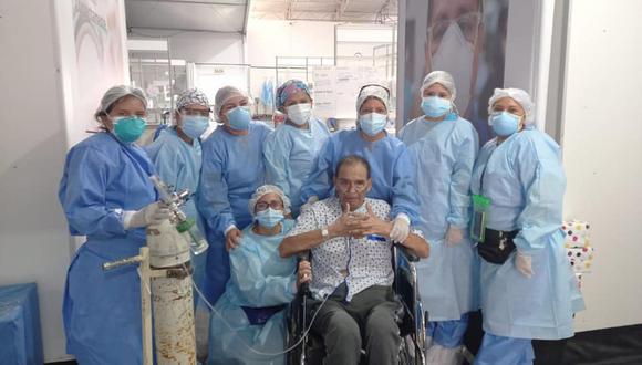 A Benito Chachapoyas Villón se le practicó una traqueotomía, con la finalidad de mantenerlo abierto para permitirle respirar. (Foto: Diresa Áncash)