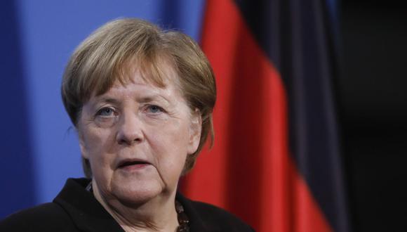 """Angela Merkel: la pandemia de coronavirus no acabará """"hasta que se ofrezca la vacuna"""" a todo el mundo. (Foto: Markus Schreiber / POOL / AFP)."""