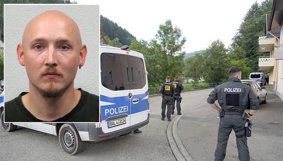 """Yves Etienne Rausch, un hombre de 31 años de edad, es conocido como """"El Rambo de la Selva Negra"""" o """"El Rambo alemán"""", tras haber burlado a un apatrulla de policías y desarmarlos. Se necesitó un operativo con 200 agentes para atraparlo. (Foto: EFE/AP)"""