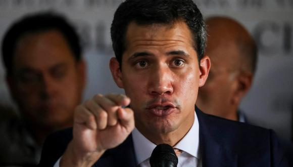 """Juan  Guaidó afirmó que le ha dicho a Duque que cuente """"con que Venezuela no será más santuario de terroristas"""". (Foto: EFE)"""