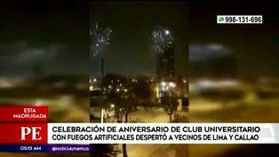 Fuegos artificiales causaron sorpresa en todo Lima