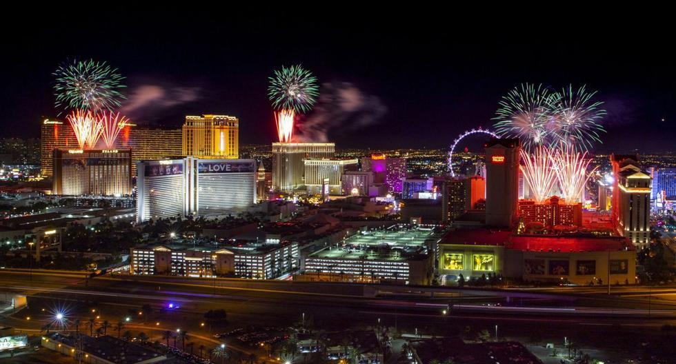 Las Vegas estará presente en los momentos previos del Super Bowl. (AP).