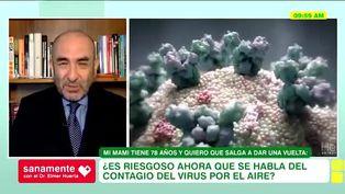 El coronavirus se propaga por el aire, ¿Puedo contagiarme si salgo a caminar?
