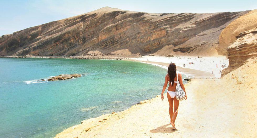 Aguas cristalinas, buenas olas y los mejores paisajes. Disfruta de las playas más encantadoras del Perú. En esta foto se aprecia la belleza de la playa La Mina, en Ica. (Foto: Archivo El Comercio)