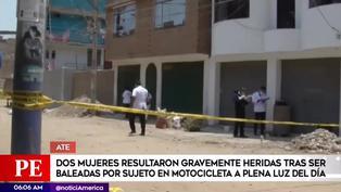 Ate: dos mujeres resultaron heridas tras ser baleadas por un sujeto a plena luz del día