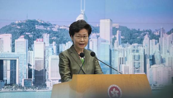 La gobernadora de Hong Kong, Carrie Lam. AP