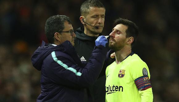 Lionel Messi se someterá a exámenes médicos para descartar una lesión de gravedad en la nariz. (Foto: AP)