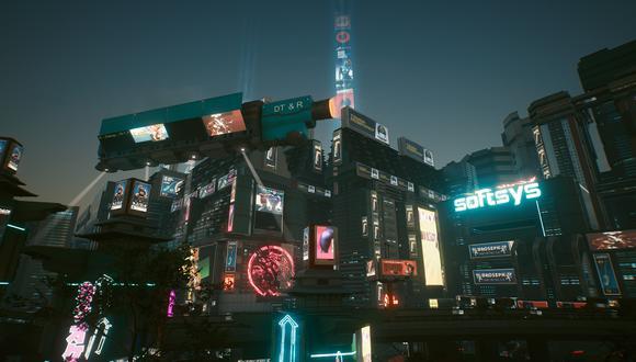 Night City es la ciudad en la que se ambienta Cyberpunk 2077. (Captura de pantalla)