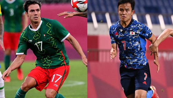 México y Japón se enfrentarán en fútbol por la medalla de bronce. (Fotos:AFP)