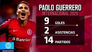 Paolo Guerrero anotó de cabeza en el triunfo del Inter ante el Santos