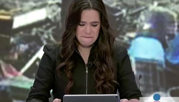 México: Periodista lloró al saber que esposa de colega murió. (Foto: Captura de YouTube)