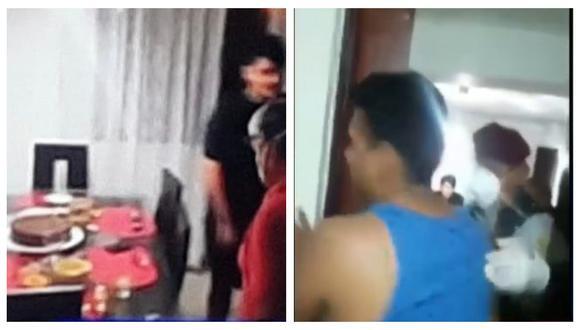 PNP se pronunció respecto a la intervención a una familia durante una celebración de cumpleaños dentro de departamento. (Captura: ATV)