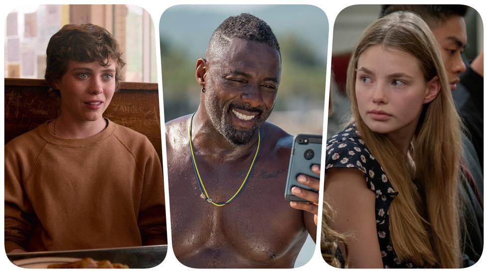 "De izquierda a derecha, ""I'm Not Okay With This"", ""Turn Up Charlie"" y ""The Society""; series que Netflix canceló este 2020. Fotos: Netflix."