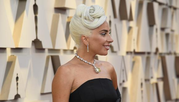"""Lady Gaga en su paso por la alfombra roja del Oscar 2019, donde estuvo nominada por la película """"A Star is Born"""". Foto: AFP."""