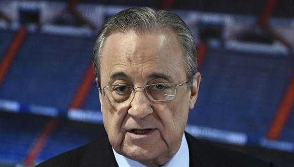 Florentino Pérez dio positivo por coronavirus, anunció Real Madrid este martes. (Foto: AFP)