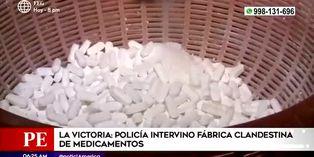 La Victoria: intervienen laboratorio clandestino de medicamentos adulterados