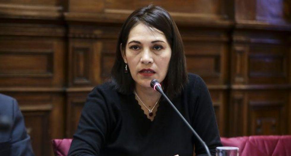 Milagros Salazar, vocera de Fuerza Popular, dijo que se debe investigar si contratación de familiares merece una sanción. (Foto: GEC)