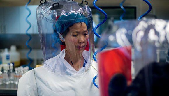 En esta foto de archivo tomada el 23 de febrero del 2017 se ve a una investigadora china en el laboratorio P4 de Wuhan, capital de la provincia de Hubei, el epicentro del coronavirus. (AFP / JOHANNES EISELE).