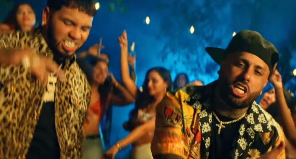 """Captura del videoclip del tema """"Whine Up"""", interpretado por Nicky Jam y Anuel AA. (YouTube)"""