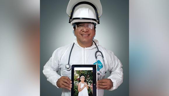 El doctor Víctor Soles trabaja en la Villa Panamericana. Para evitar cualquier riesgo de contagio, ha decidido no ver a su hija, Fabiana (9), el tiempo que sea necesario. (Foto: Víctor Soles).