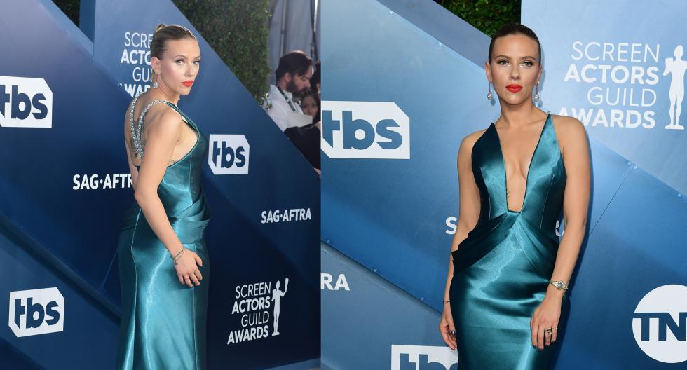 La actriz Scarlett Johansson se coronó como una de las mejores vestidas de la noche. Recorre la galería para conocer más detalles. (Foto: AFP)