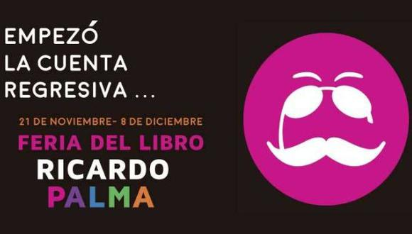 Feria del Libro Ricardo Palma inicia el 21 de noviembre
