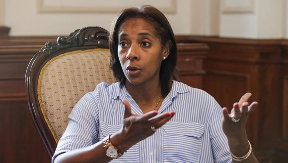 La congresista afirma que está dispuesta a continuar en la función pública después de que termine su mandato el 2021. (Foto: Alonso Chero)