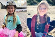 Paige Tobin, la niña de 6 años que sorprendió con sus habilidades en el skate y ahora surfea sola
