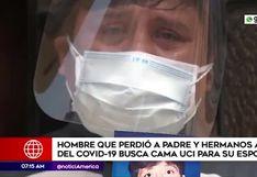 Hombre que perdió a hermanos y padre pide cama UCI para su esposa