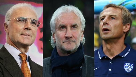 Históricos Beckenbauer, Völler y Klinsmann apuestan a Alemania