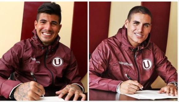 Armando Alfageme y Alexander Succar continuarán vistiendo la camiseta crema. (Foto: Universitario de Deportes)