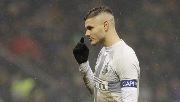 Mauro Icardi no es incluido en la nómina de Inter de Milán. (Foto: AP)