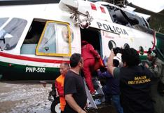 Huánuco: helicóptero de la policía rescata a dos mujeres damnificadas por lluvias | VIDEO
