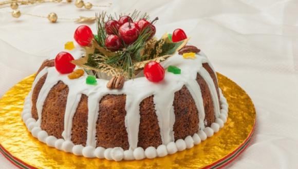 Cake de frutas navideño