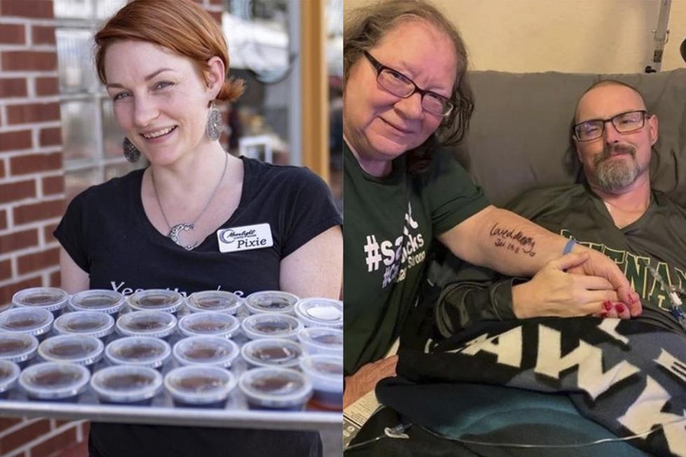 Cuando Pixie Adams, dueña de Moonlight Coffeehouse, se enteró de que su competidor Dave McAdams estaba viviendo sus últimos meses de vida, no dudó en dejar su negocio para ayudarlo a recaudar dinero. (Facebook)