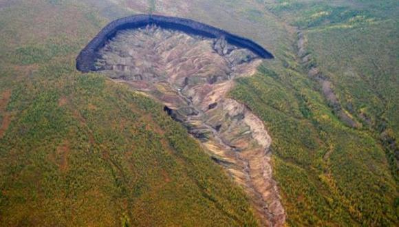 [BBC] El gigantesco cráter de Siberia que sigue creciendo