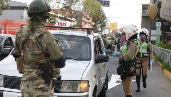 OPERATIVO DE LA POLICIA NACIONAL Y FUERZAS ARMADAS EN SAN BORJA
