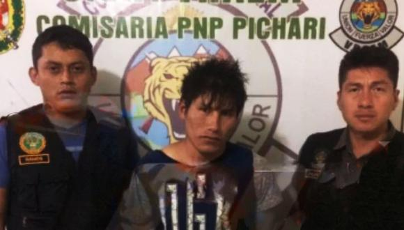 Jhonatan Juan Vivanco Escalante fue capturado por la PNP. (Foto: PNP)