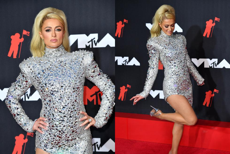 Paris Hilton on the red carpet at the MTV Video Music Awards. (Photo: AFP).