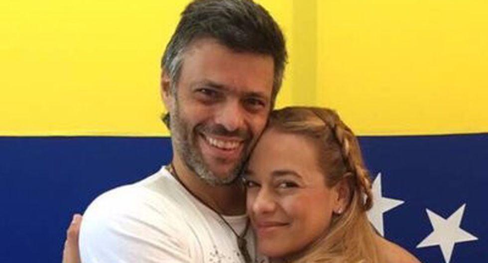 Leopoldo López y Lilian Tintori. (Foto: Twitter)