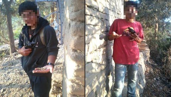 PNP detuvo a 2 adolescentes que se tomaron fotos con revólveres