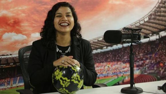 Rosa Muñoz, la primera narradora de la Liga 1, y cómo todo nació en una clase de Don Miguel Portanova. FOTO: GEC.