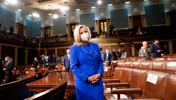 Liz Cheney, representante de Wyoming de 54 años, fue destituida como como presidenta de la Conferencia Republicana de la Cámara de Representantes por criticar la postura del exmandatario Donald Trump. (Foto: AP)