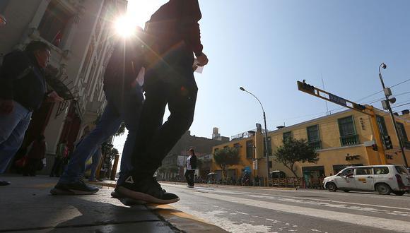 El índice máximo UV en Lima en la capital alcanzará el nivel 14 este miércoles, según pronosticó el Senamhi. (Foto: GEC)