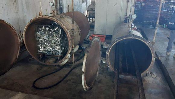 Hornos de la planta ilegal de conservas. Foto: FEMA del Santa.
