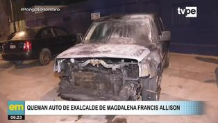 Incendian vehículo de Francis Allison, exalcalde de Magdalena