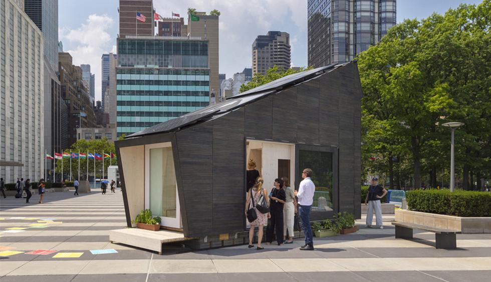 Esta vivienda ecológica fue presentada durante el Foro Político de Alto Nivel sobre el Desarrollo Sostenible de las Naciones Unidas, en Nueva York.  (Foto: David Sundberg/Esto)