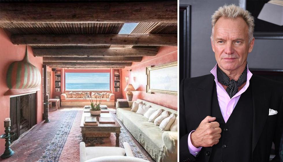 El cantante británico Sting, ex líder de The Police,  posee una casa de playa en Malibú, California, que destaca por su estilo rústico. (Foto: MLS)