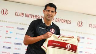Universitario de Deportes presentó oficialmente a Enzo Gutiérrez como nuevo refuerzo