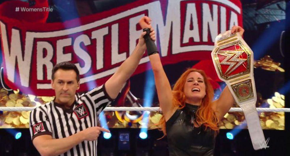 Becky Lynch derrotó a shayna Baszler y conservó el título femenino de RAW. (WWE)